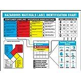 "Accuform Signs ZTP108 Haz-Mat Identification Poster, ""HAZARDOUS MATERIALS LABEL IDENTIFICATION CHART"", 18"" Length x 24"" Width, Laminated Flexible Plastic"
