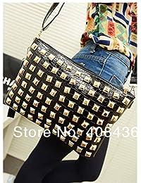 Fashion Casual High Quality Vintage Rivet Day Clutches Bags Tote Black Red Women Handbag Elegant Ladies Small...