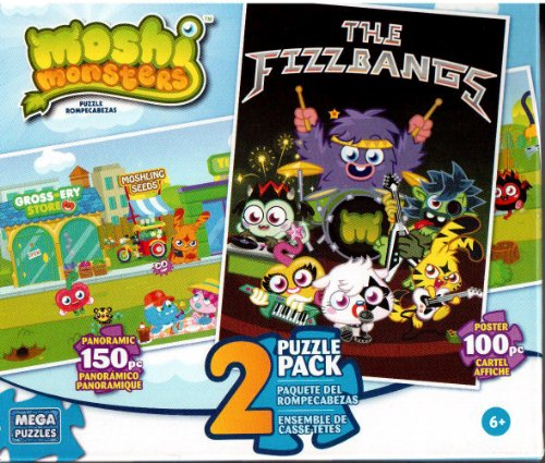 Mega Brands 2 Pack the Fizzbangs & Moshi Main Street Jigsaw Puzzles - 1