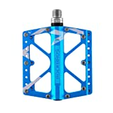 RockBros Bike Pedals Platform Mountain Bicycle Road Cycling Pedals Aluminum Alloy Cr-Mo Machined 3 Sealed Bearing Pedals 9/16