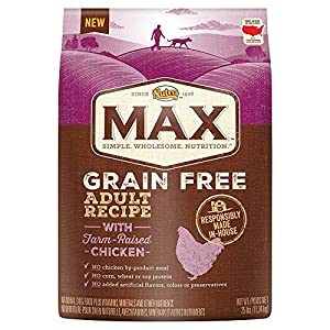 NUTRO MAX Adult Grain Free Recipe With Farm Raised Chicken Dry Dog Food 25 Pounds