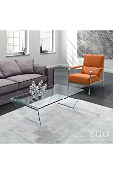 Migration Coffee Table Clear. Angled legs give the Migration Coffee Table an arresting shape. Made of tempered glass folded into a triangle. Gives your couch extra oomph.
