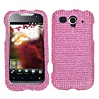 Asmyna HWU8680HPCDMS004NP Dazzling Diamante Bling Case for HUAWEI U8680 (myTouch) - 1 Pack - Retail Packaging - Pink