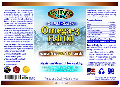 Cooperz Petz Premium Omega 3 Fish Oil For Dogs And Cats