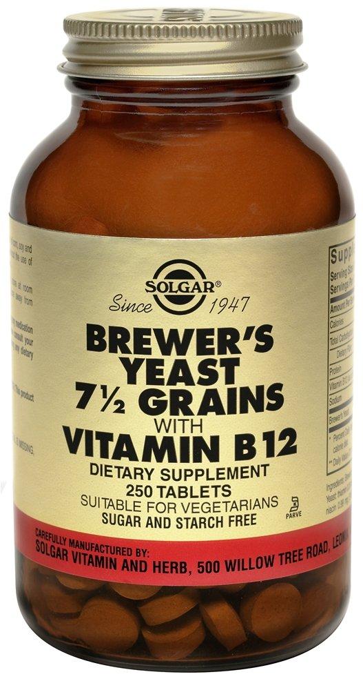 Solgar - Brewers Yeast 7-1/2 Grains Vitamin B12, 250 tablets solgar