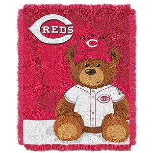 MLB Cincinnati Reds Field Woven Jacquard Baby Throw Blanket, 36x46-Inch by Northwest