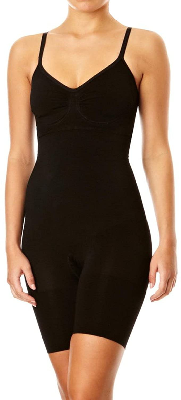 SPANX `Slim Cognito` Body Suit (345) - Shape Träger-Body mit Bein - sehr stark formgebend