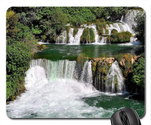 Water Cascades Mouse Pad, Mousepad (Waterfalls Mouse Pad)