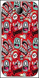 Snoogg Woah Aaah Designer Protective Back Case Cover For HTC Sensation Xl