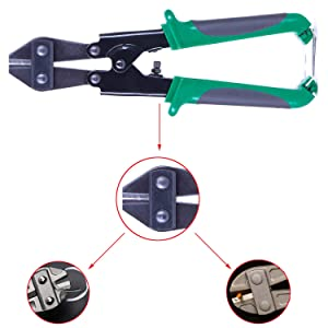 8 inch Mini Bolt Cutter - Wire Cutter for Chain/Mesh/Threaded Rod/Bolts/Heavy Gauge Wire by NIDAYE (Color: green, Tamaño: 8inch)