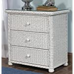 Wicker Paradise GA103 Elana Three Drawer Chest, Large