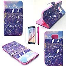 buy Iphone 5C Case, Jcmax [2 Layer Protection] Hard Pu Leather Case [Wallet Feature] [Build In Stand] Ultra Lightweight For Iphone 5C-(1 X Screen Protector Film 1 X Stylus Pen)Every Moment