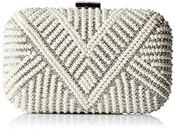Aldo Song Clutch, Silver, One Size