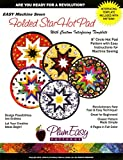 Folded Star 8-inch Circle Hot Pad Pattern: With Custom Interfacing Template and Easy Instructions for Machine Sewing