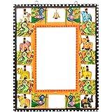 New Agrawal Toys Emporium Wooden Mirror Cum Photo Frame (19 Cm X 2 Cm X 24 Cm, NATE157)