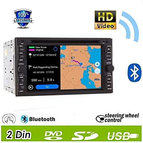 Fashion Design. New GPS Navigation 15,7 cm Double 2 DIN EN bord de voiture écran tactile HD Radio stéréo Antenne GPS Carte Bluetooth FM/AM Radio/BT/USB/SD/lecteur MP3/MP4