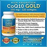 NutriGold CoQ10, 100mg, 120 Softgels - High Absorption CoQ10 GOLD with Kaneka Q10