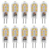 KINDEEP G4 LED Bulb, Bi-Pin Base, 20W Halogen Bulb Equivalent, AC/DC 12 Volt, Warm White 3000K, 10-Pack (Color: Warm White 3000k, Tamaño: 10-Pack)