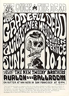 Grateful Dead 1966 Concert Poster, Avalon Ballroom *Mint Condition* (FD-12)