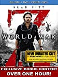 World War Z (Blu-ray + DVD + Digital Copy + EXCLUSIVE VUDU Online Bonus Content)