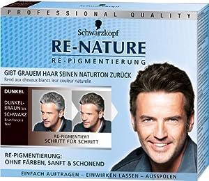 Schwarzkopf Re-Nature Re-Pigmentierung für Männer, dunkel, 3er Pack (3 x 1 Stück)