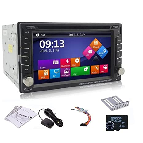 Windows 8 2015 New Model 6.2 pouces 2-DIN HD šŠcran tactile LCD de tableau de bord voiture lecteur DVD avec DVD / CD / MP3 / MP4 / USB / SD / AMFm / RDS Radio / bluetooth / stšŠršŠo / audio et de navigation GPS +