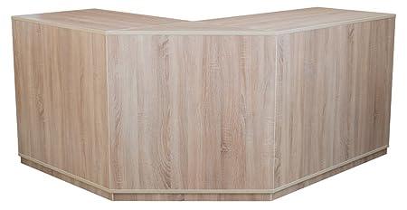 Ladeneinrichtung venta mostrador/mostrador con estantes y cajones, color roble