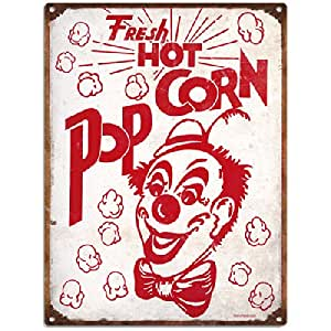 Circus Clown Popcorn Tin Sign