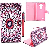 LG G4 Case,Vogue Shop G4 Case,LG G4 Wallet Case, [Ultra Slim] [Perfect Fit] Sparkle Pattern Premium Pu Leather[Wallet Function] [Stand Feature] Type Magnet Design Flip Protective Credit Card Holder Pouch Skin Case Cover for LG G4 Smartphone (Built-in Credit Card/ID Card Slot) [Flip Cover] with Foldable Stand, Pockets for ID, Credit Cards [holder] - with Stand All-around TPU Inner Case Skin Cover and Snap Button Closure [Type Magnet Design] Flip Protective Stylish Pattern Design Blue Folio Case for LG G4 with 1 stylus/one screen touch pen (vogue shop-Alfalfa)