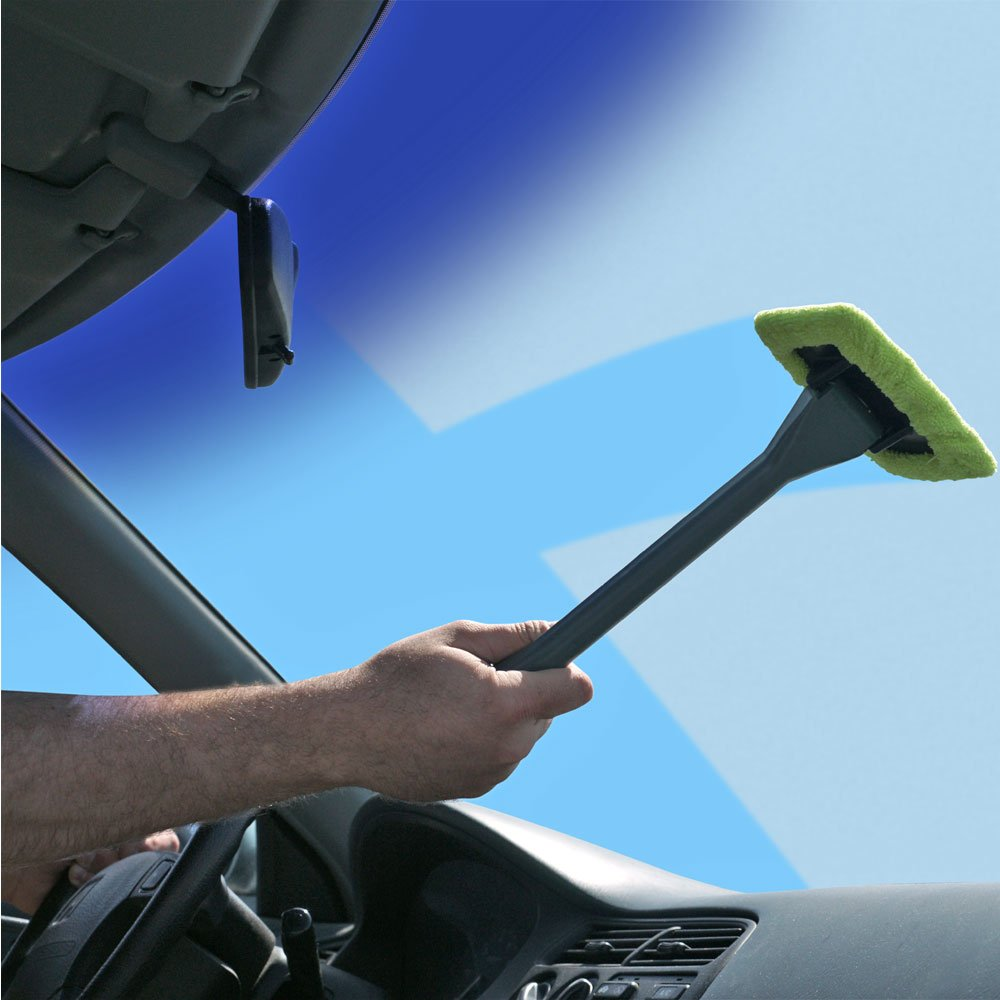 Trademark 80-01162 Handy Windshield Wiper with Long Handle and Pivoting Head