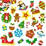 Christmas Foam Stickers for Children for Decorating Festive Cards Crafts (Pack of 100)