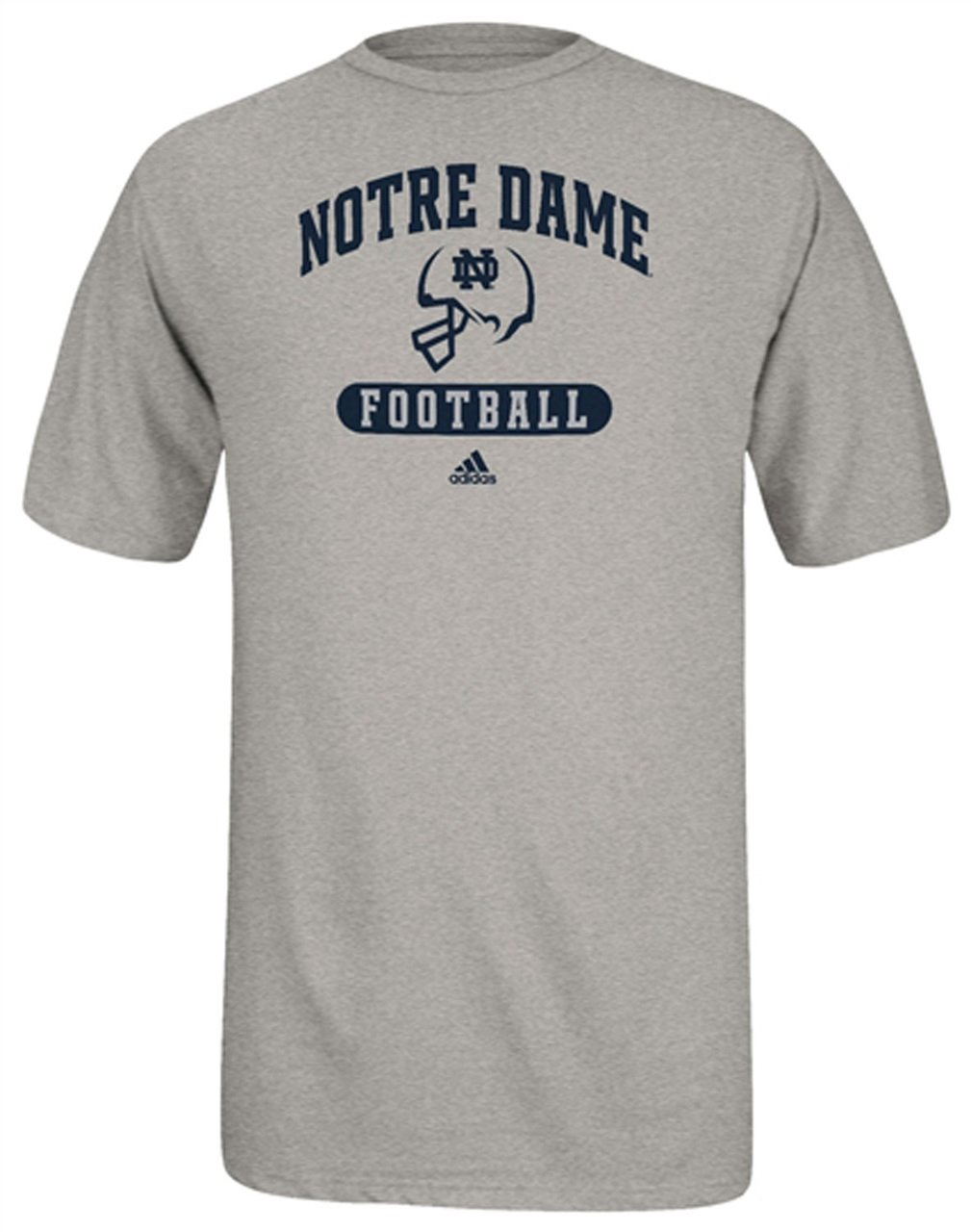 Notre dame fighting irish adidas football sport arch t for Notre dame tee shirts