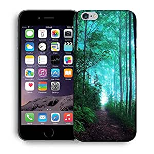 Snoogg Green Forest Printed Protective Phone Back Case Cover For Apple Iphone 6+ / 6 Plus