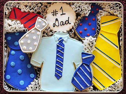 Father's Day Tie Decorated Sugar Cookies