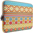 Laptop Sleeve, PLEMO Bohemian Style Canvas Fabric 13-13.3 Inch Laptop / Notebook Computer / MacBook / MacBook Pro / MacBook Air Sleeve Case Bag Cover, Sunlight Garden