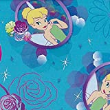 Disney-Tinkerbell 43/44 Wide 100% Cotton D/R-Tink Petal Perfect Cameo