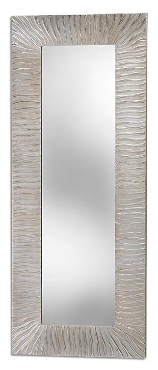 Pintdecor Onde Specchiera, Mdf, Argento, 180x72x3 cm