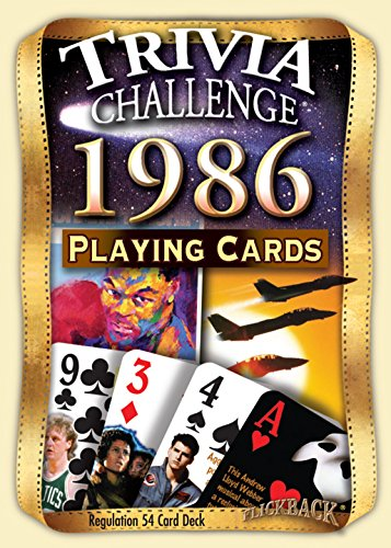 1986 Trivia Playing Cards: 30th Birthday Gift or 30th Anniversary Gift