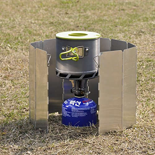 OuterEQ Lightweight Folding Camp Stove Windscreen Windshield 10 Plates