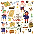 RoomMates RMK1195SCS Treasure Hunt Peel & Stick Wall Decals