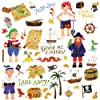RoomMates Repositionable Childrens Wall Stickers Pirates Treasure Hunt