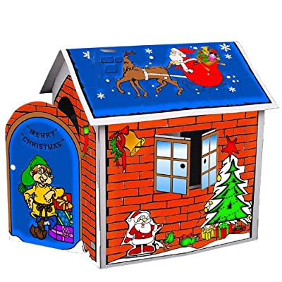 Homcom Xmas Children Kids Craze Playhouse Play House Room Toy Tent Play Gift Eco-friendly