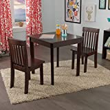 KidKraft Square Table & 2 Avalon Chair Set, Espresso
