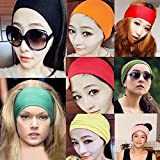 Women Wide Yoga Headband Strech Hairband Elastic Hair Bands Headband Turban For Sports Exercise