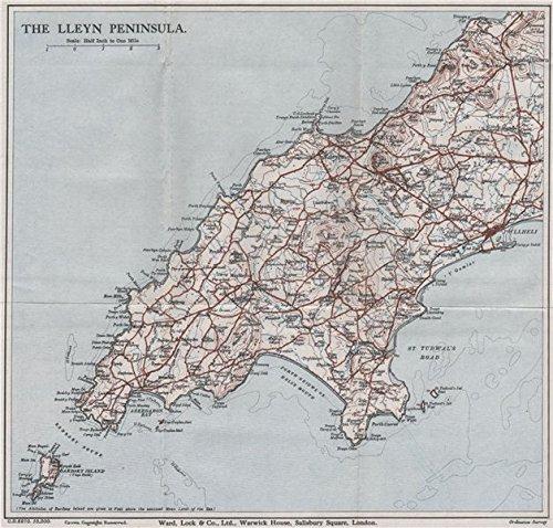 the-llyn-peninsula-pwllheli-barmouth-wales-ward-lock-1936-vintage-map
