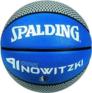 Spalding Basketball Player Dirk Nowitzki 73-823Z, Blau/Silber, 7, 3001584011117