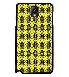 Printvisa Yellow And Black Beetle Pattern Back Case Cover for Samsung Galaxy Note 3 N9000::Samsung Galaxy Note 3 N9002::Samsung Galaxy Note 3 N9005 LTE