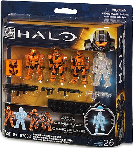 Mega Bloks Halo UNSC Combat Orange Unit