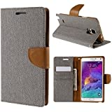 DENICELL Royal Dairy Style Flip Cover For MICROMAX CANVAS HD-A116 (MATTE GREY)