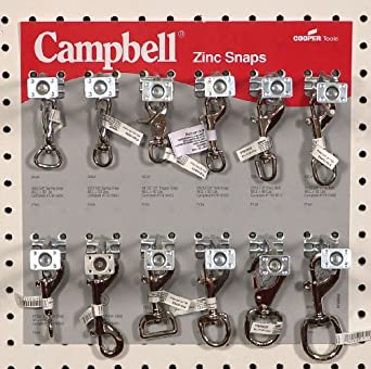"Campbell 0720055 121 Piece 12"" x 12"" Zinc Snaps Display Assortment"